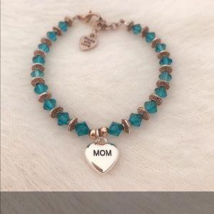 Davinci Mom Charm Swarovski Crystal Bracelet